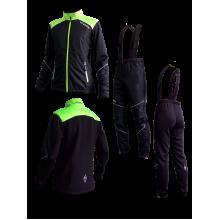 """Детский разминочный лыжный костюм """"Бейсик-Юниор 20"""" (черный)"""