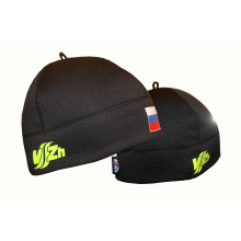 Спортивная шапка с флагом  (черная)