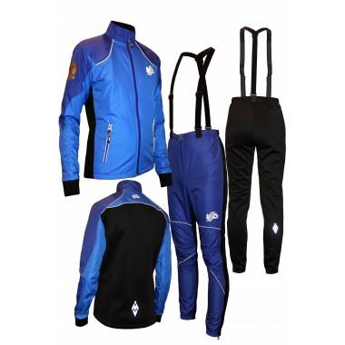 """Детский разминочный лыжный костюм """"Бейсик-18"""" (синий)"""