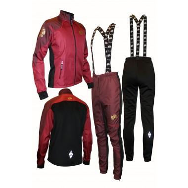 """Разминочный лыжный костюм """"Бейсик-18"""" (бордо)"""