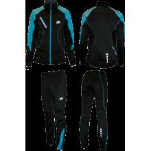 Тренировочный костюм (черно-бирюзовый)