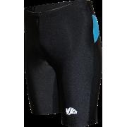 Спортивные шорты-унисекс (черные с бирюзовыми вставками)