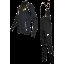 """Разминочный лыжный костюм """"Профи"""" (черный)"""