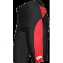 Спортивные шорты-унисекс (черные с красными вставками)