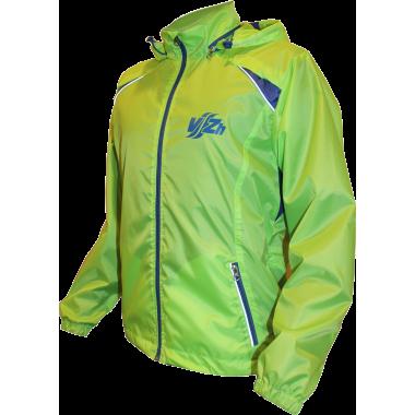 Ветрозащитная куртка-дождевик (лайм)