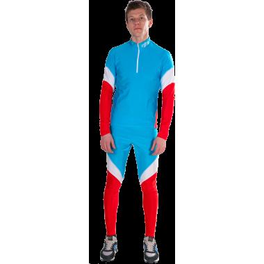 Гоночный лыжный костюм (бирюзовый)