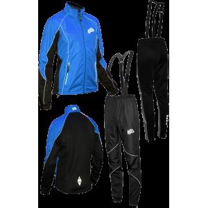 """Разминочный лыжный костюм """"Бейсик-17"""" (синий)"""