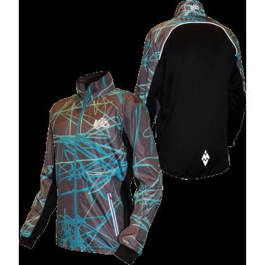 Бирюзовая спортивная куртка для фитнеса