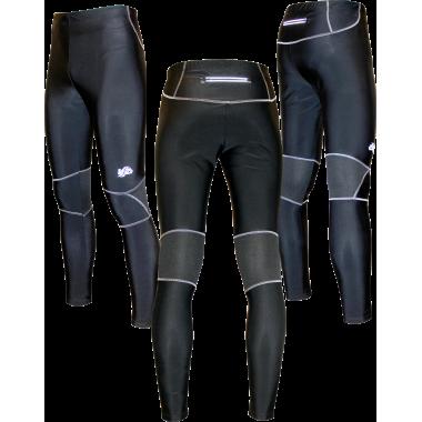 Спортивные лосины (черно-серые)