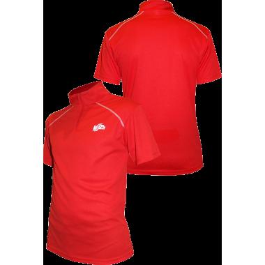 Фитнес-рубашка на молнии ( красная)