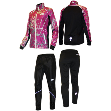 Фиолетовый спортивный костюм для фитнеса