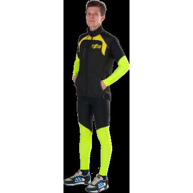 Ветрозащитный спортивный жилет на сетке (черный)