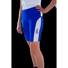 Спортивные шорты-унисекс (синие с белыми вставками)