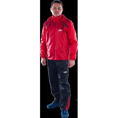 Ветрозащитный спортивный костюм (красный)