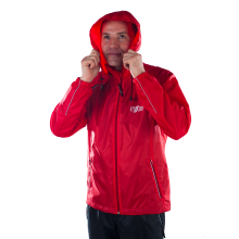 Ветрозащитная куртка-дождевик (красная)