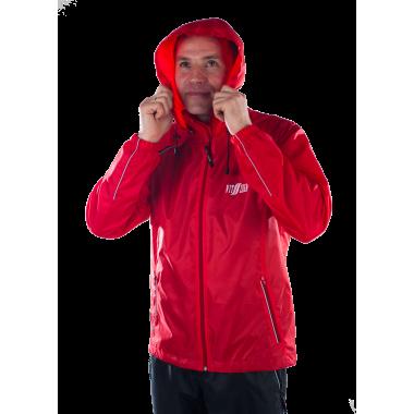 Красная ветрозащитная куртка-дождевик