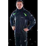 Ветрозащитная куртка-дождевик (черная)