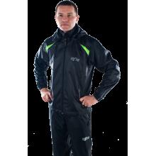 Ветрозащитный спортивный костюм (черный)