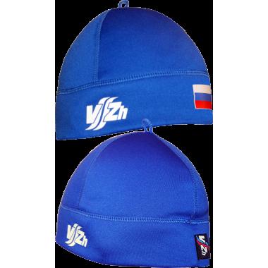 Спортивная шапка с флагом (синяя)