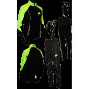 """Разминочный лыжный костюм """"Бейсик"""" (черный с лаймовым)"""