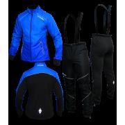 """Разминочный лыжный костюм """"Бейсик-Юниор 20"""" на рост от 130 см до 154 см (синий)"""