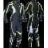 Гоночный лыжный костюм с шапкой  (черный)