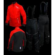 """Разминочный лыжный костюм """"Бейсик-Юниор 20"""" на рост от 130 до 154 см (красный)"""