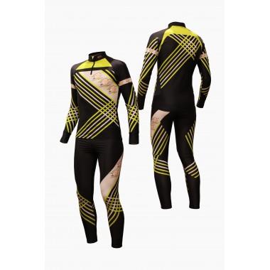 Гоночный лыжный костюм (черный)