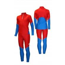 Гоночный лыжный костюм (красно-синий)