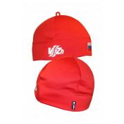 Спортивная шапка с флагом (красная)
