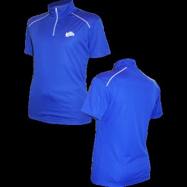 Фитнес-рубашка на молнии  (синяя)
