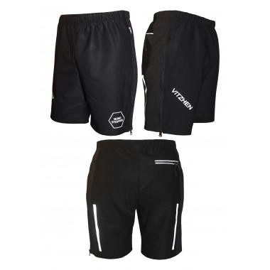 Лыжные шорты-унисекс (черные)